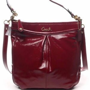 Nwt coach patent leather Ashley hippie handbag